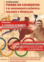 Cartel Conferencia Valores Olimpicos IES Castelao Vigo